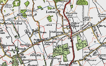 Old map of Latton Bush in 1919
