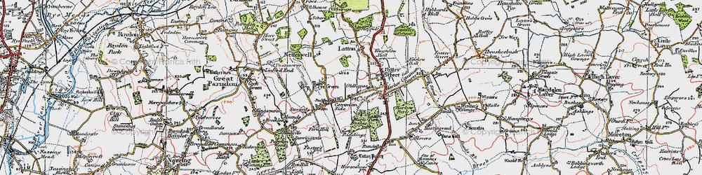 Old map of Latton Bush in 1919