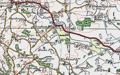 Old map of Laughern Hill in 1920
