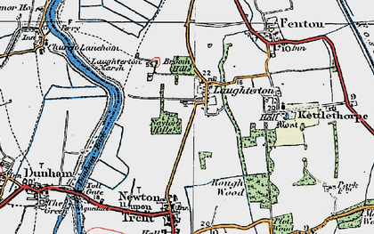 Old map of Laughterton in 1923