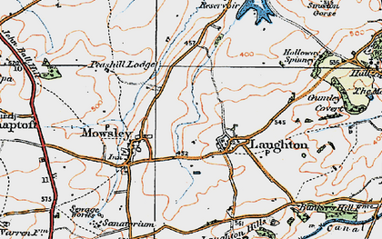 Old map of Laughton in 1920