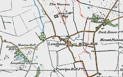 Old map of Laughton Wood in 1923