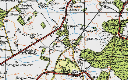 Old map of Laughton Common in 1920