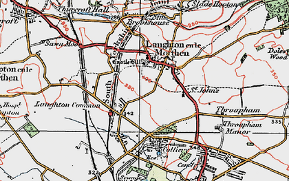 Old map of Laughton Common in 1923