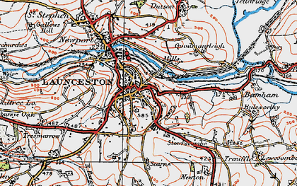 Old map of Launceston in 1919