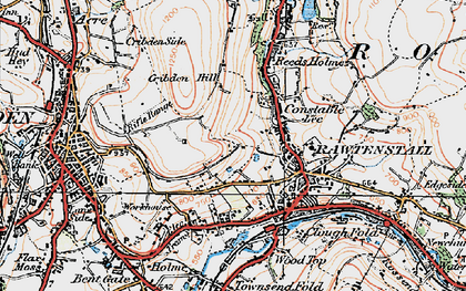 Old map of Laund in 1924