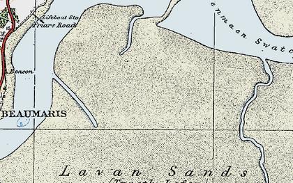 Old map of Lavan Sands in 1922