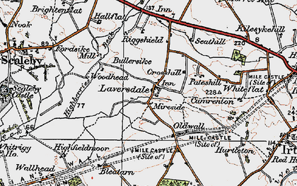 Old map of Riggshield in 1925