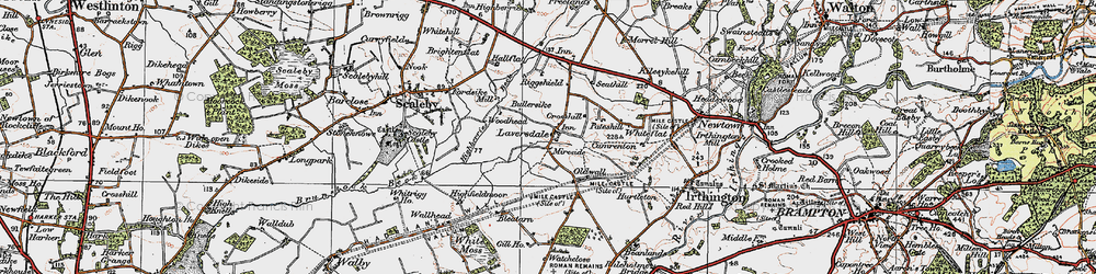 Old map of Laversdale in 1925