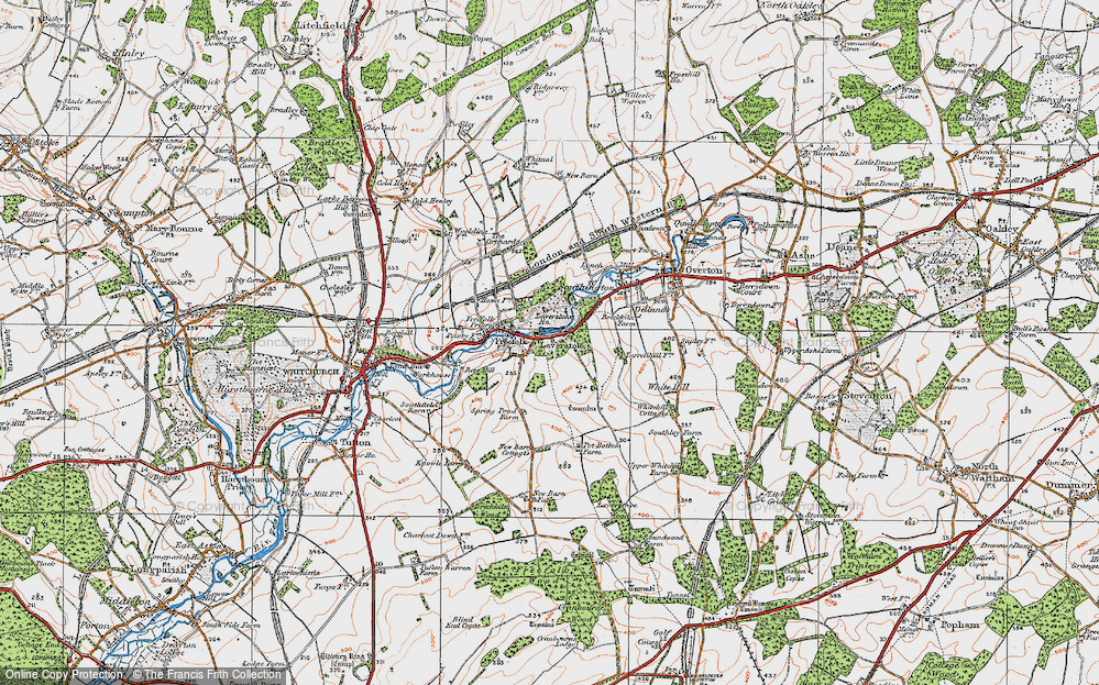 Old Map of Laverstoke, 1919 in 1919
