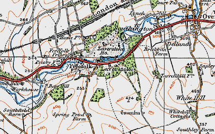 Old map of Laverstoke Wood in 1919