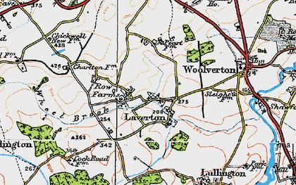 Old map of Laverton in 1919