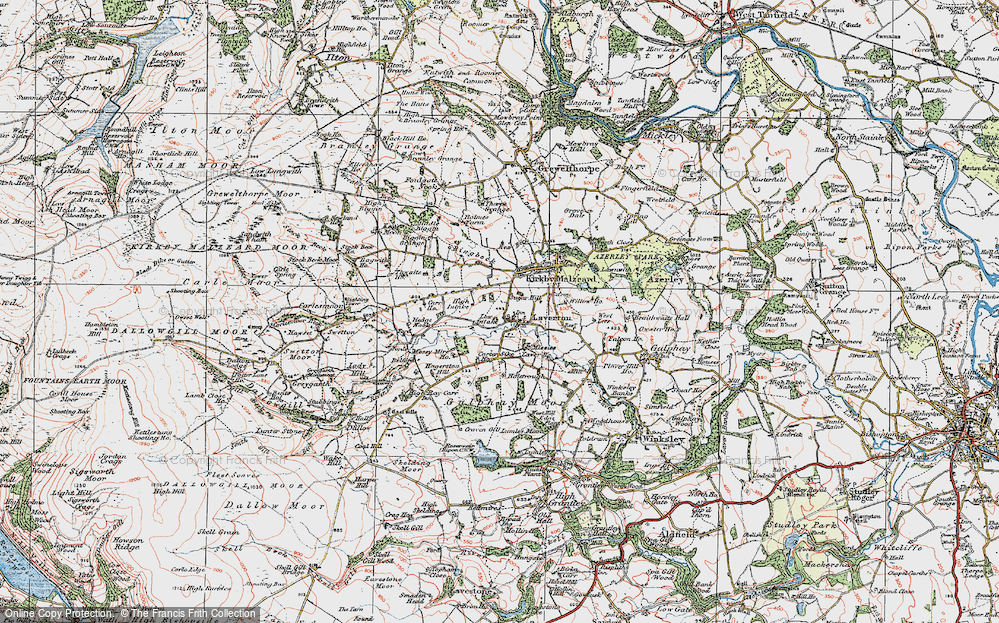 Old Map of Laverton, 1925 in 1925
