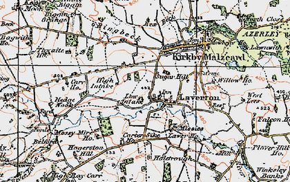 Old map of Laver Ho in 1925