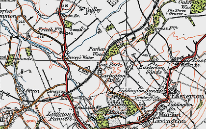 Old map of Lavington Sands in 1919