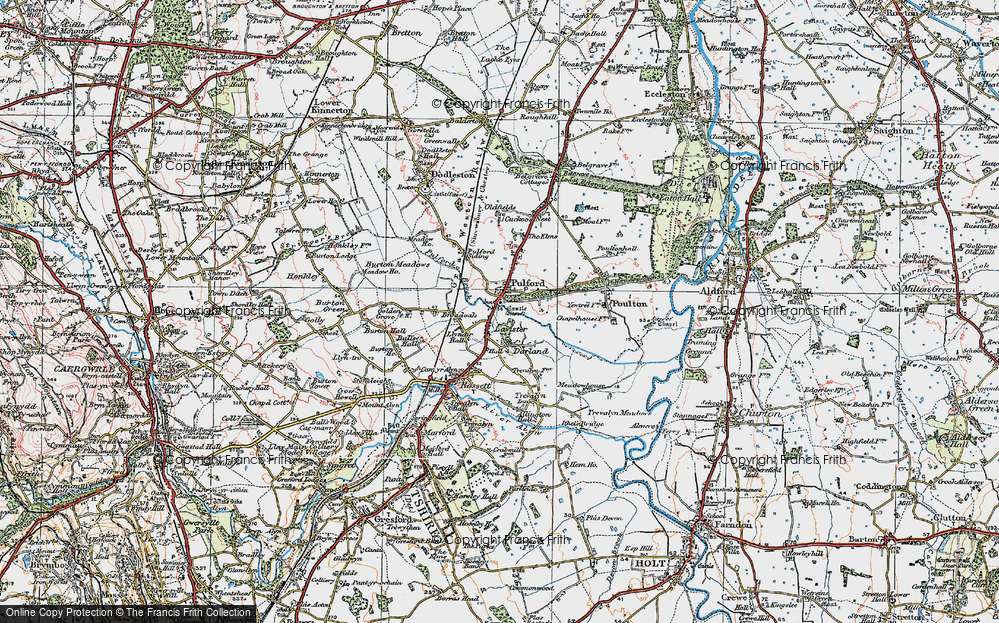 Old Map of Lavister, 1924 in 1924