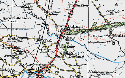 Old map of Lavister in 1924
