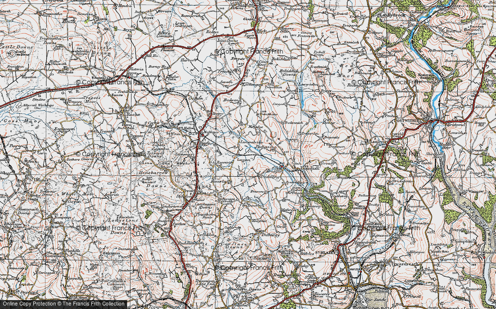 Old Map of Historic Map covering Lestoon in 1919