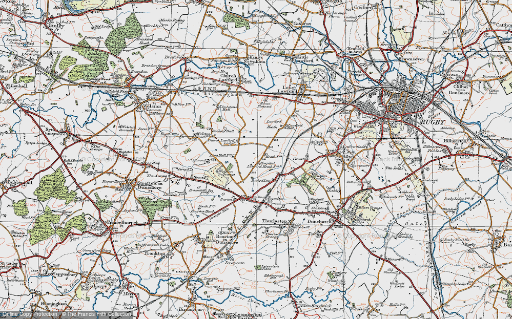 Old Map of Lawford Heath, 1919 in 1919