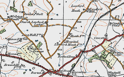 Old map of Lawford Heath in 1919