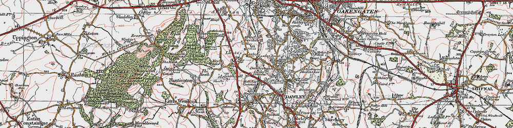 Old map of Lawley in 1921