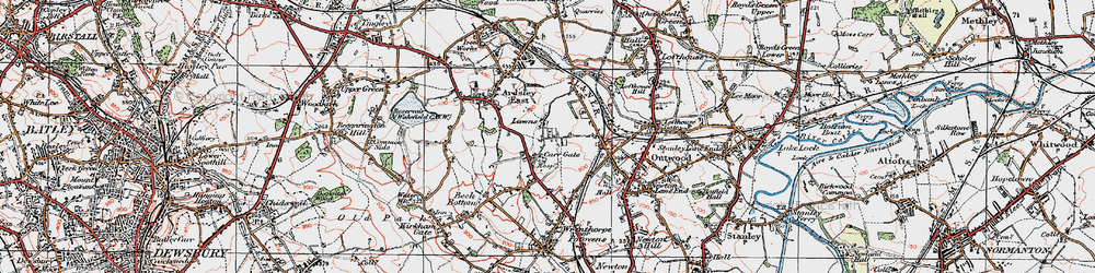 Old map of Lawns in 1925