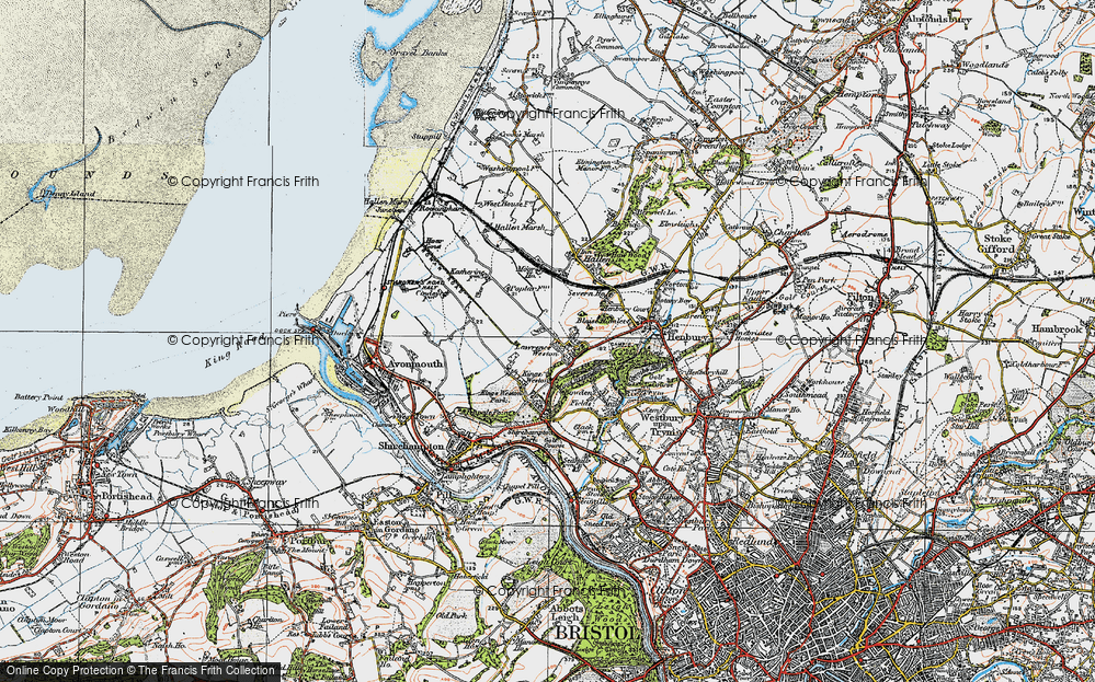Old Map of Lawrence Weston, 1919 in 1919
