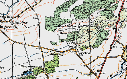 Old map of Laxton Hall in 1922