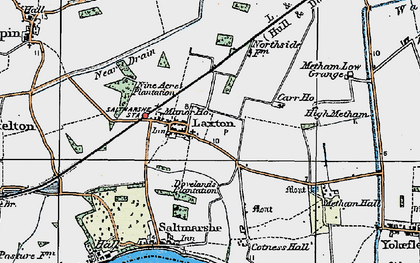Old map of Laxton in 1924