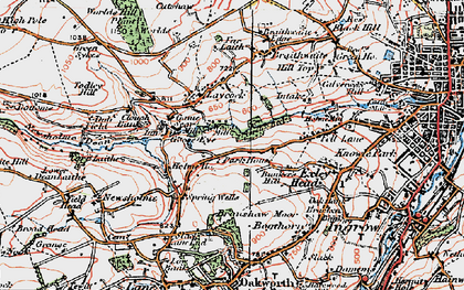 Old map of Laycock in 1925
