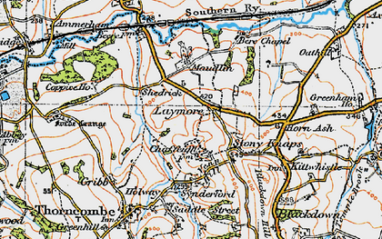 Old map of Laymore in 1919