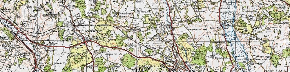 Old map of Layters Green in 1920