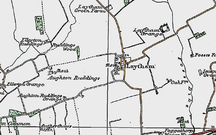 Old map of Aughton Ruddings in 1924
