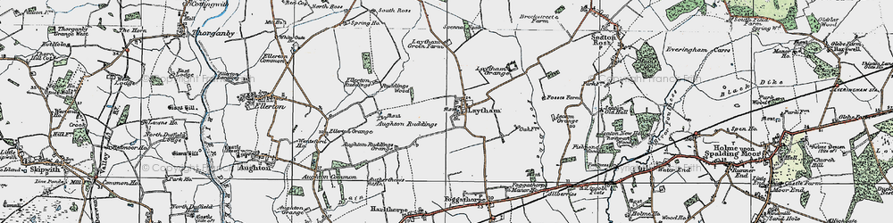 Old map of Laytham in 1924