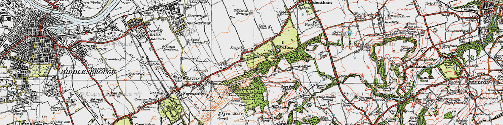 Old map of Lazenby in 1925