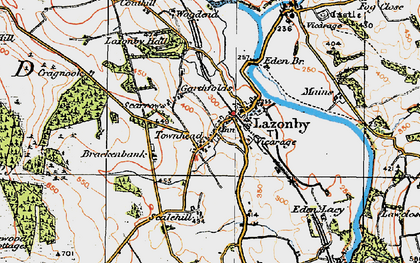 Old map of Lazonby in 1925