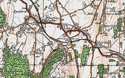 Old map of Adam's Cot in 1919