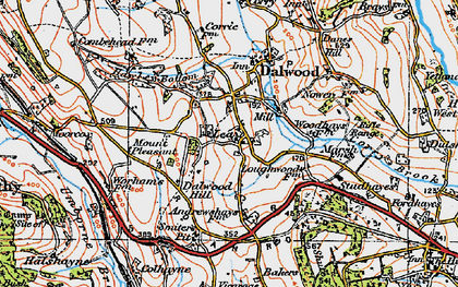 Old map of Lea in 1919