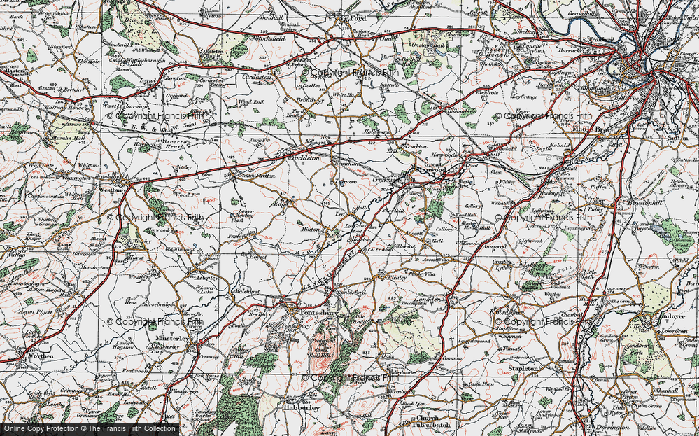 Old Map of Lea, 1921 in 1921