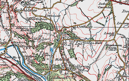 Old map of Lea Hall in 1923