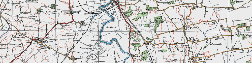 Old map of Lea in 1923
