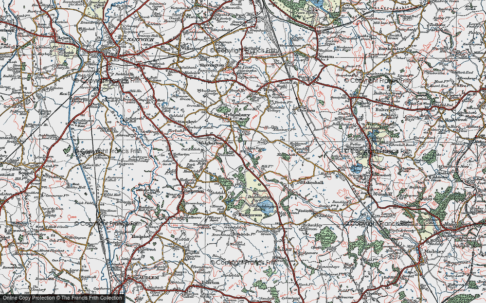 Old Map of Lea Forge, 1921 in 1921