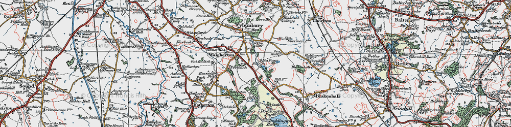 Old map of Lea Forge in 1921