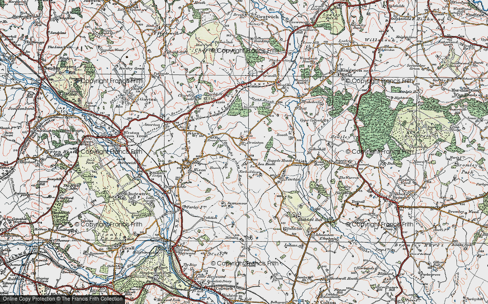 Old Map of Lea Heath, 1921 in 1921