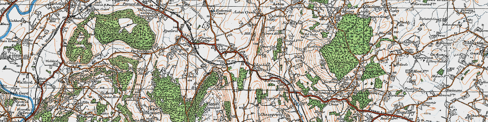 Old map of Lea Line in 1919