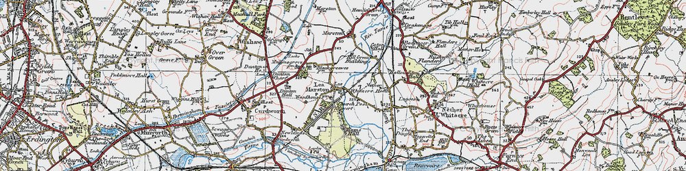 Old map of Lea Marston in 1921