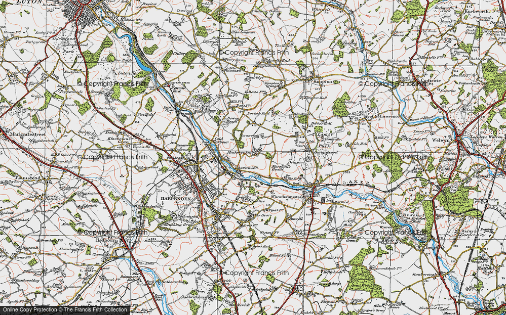 Old Map of Lea Valley, 1920 in 1920