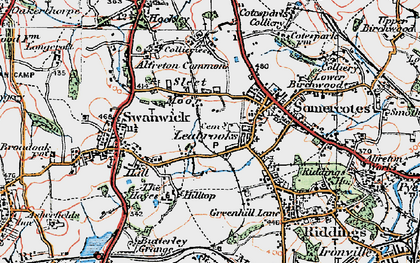 Old map of Leabrooks in 1921