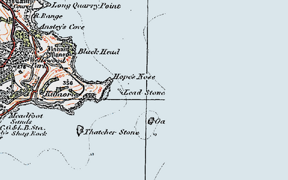 Old map of Lead Stone in 1919