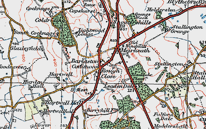 Old map of Leadendale in 1921